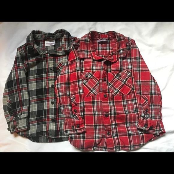 8c37627272969 Lot of 2 Plaid Flannel Shirts (sz. 100)